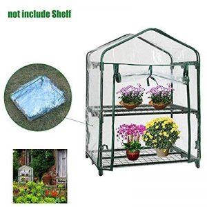 XMLIFEAI Plante Serre Coque, Mini Portable Cabine Jardin Maison pour extérieur/intérieur à Herbes Fleur Plantes Balcon de Jardin (sans Cadre de Fer) de la marque XMLIFEAI image 0 produit