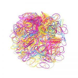YeahiBaby Élastique cheveux élastiques pour enfants coiffure 2000 Pieces (couleur aléatoire) de la marque YeahiBaby image 0 produit