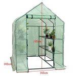 Yongtaifeng Serre de Jardin Chaude Maison Tente de Plante Serre pour tomates 143x143x195cm 6 Étages en Vert Transparent de la marque Yongtaifeng image 2 produit