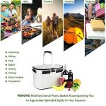 Yonovo Panier pique-nique pliable 22L Grand sac isotherme étanche pour Gathering Voyage Camping BBQ blanc de la marque YONOVO image 3 produit