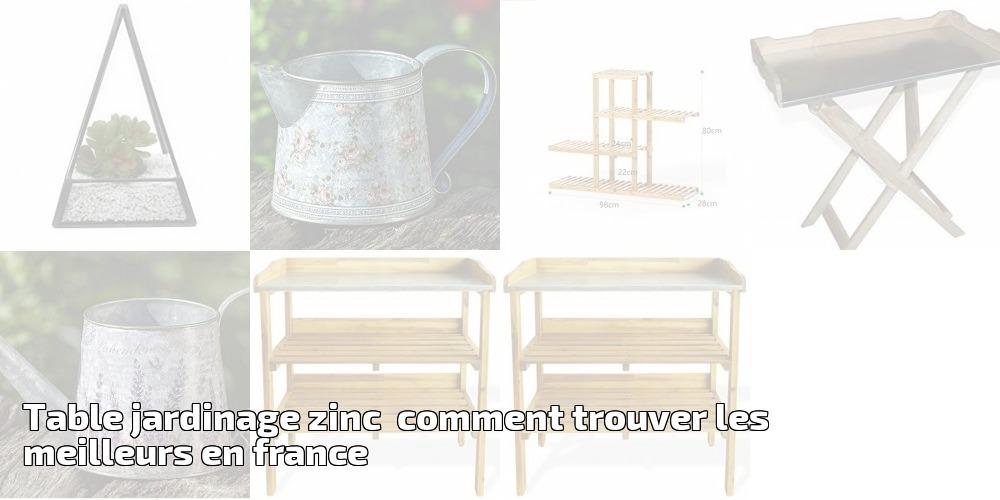 table jardinage zinc comment trouver les meilleurs en. Black Bedroom Furniture Sets. Home Design Ideas